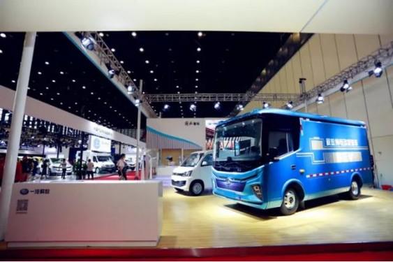 清洁动力,引领未来 | 2020一汽解放客车分公司郑州新能源物流车商用车展盛大举行